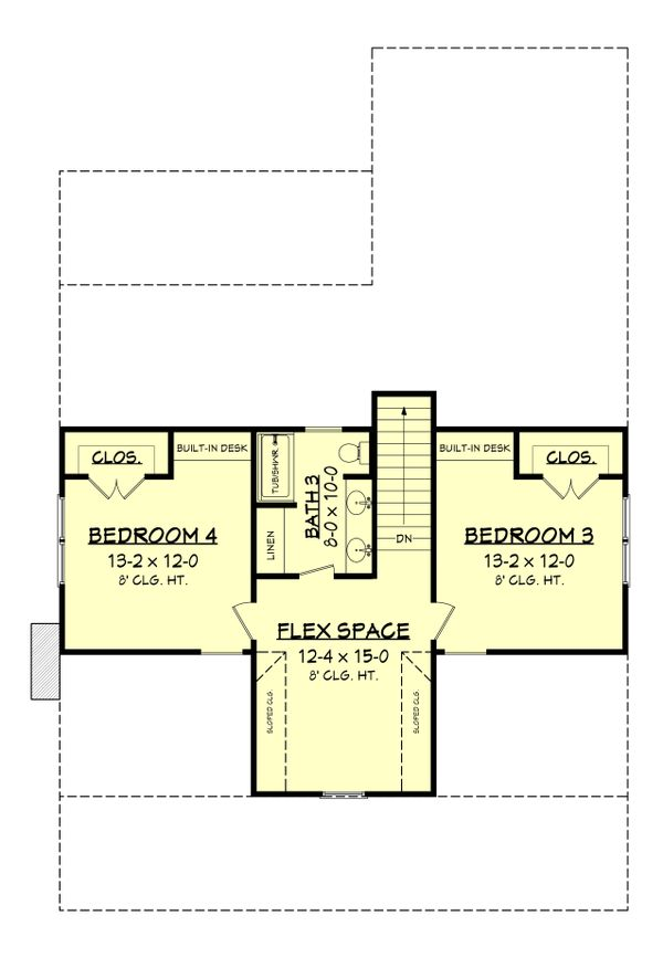 Farmhouse Floor Plan - Upper Floor Plan Plan #430-198
