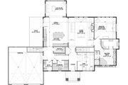 Craftsman Style House Plan - 3 Beds 3.5 Baths 4135 Sq/Ft Plan #928-318 Floor Plan - Main Floor Plan