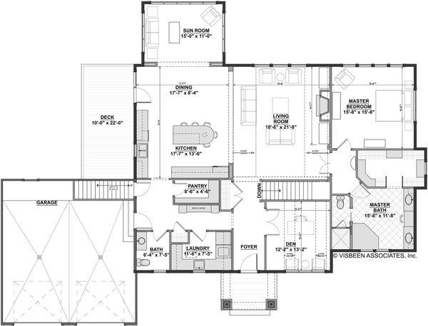 Craftsman Floor Plan - Main Floor Plan #928-318
