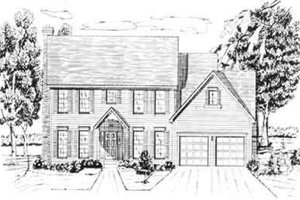 Colonial Exterior - Front Elevation Plan #405-103