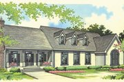 Traditional Style House Plan - 3 Beds 2.5 Baths 3501 Sq/Ft Plan #45-172 Exterior - Front Elevation