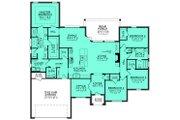 European Style House Plan - 4 Beds 2.5 Baths 2380 Sq/Ft Plan #430-129 Floor Plan - Main Floor Plan
