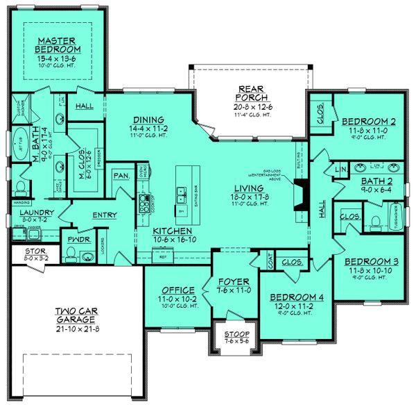 Architectural House Design - European Floor Plan - Main Floor Plan #430-129
