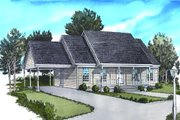 Traditional Style House Plan - 2 Beds 2 Baths 999 Sq/Ft Plan #16-241 Exterior - Front Elevation