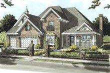 Dream House Plan - European Exterior - Front Elevation Plan #20-1679