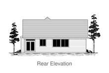 Craftsman Exterior - Rear Elevation Plan #53-655