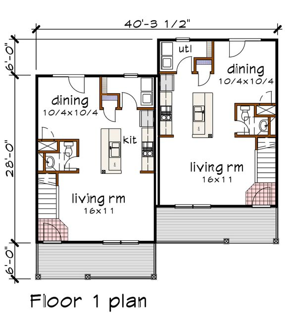 Southern Floor Plan - Main Floor Plan Plan #79-240