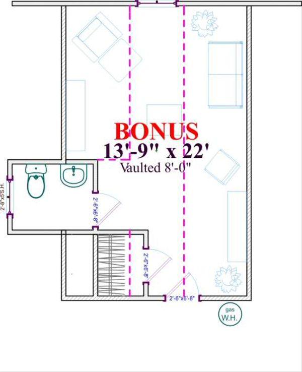 Farmhouse Floor Plan - Other Floor Plan Plan #63-136