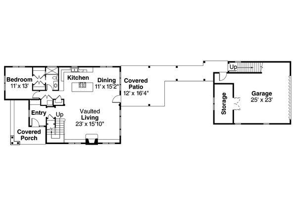 Traditional Floor Plan - Main Floor Plan Plan #124-977
