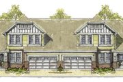 Tudor Style House Plan - 3 Beds 3 Baths 4120 Sq/Ft Plan #20-1278 Exterior - Front Elevation