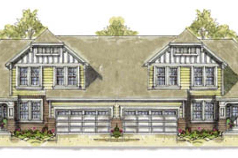 Tudor Exterior - Front Elevation Plan #20-1278