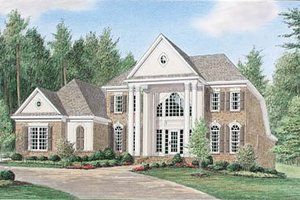 Colonial Exterior - Front Elevation Plan #34-122