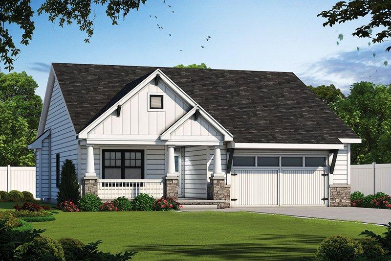 House Plan Design - Ranch Exterior - Front Elevation Plan #20-2304
