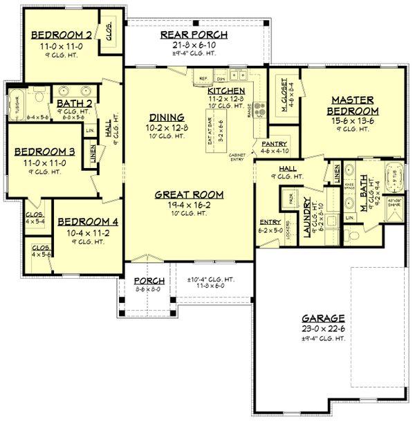 Farmhouse Floor Plan - Main Floor Plan Plan #430-207