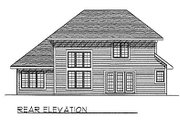Traditional Style House Plan - 3 Beds 2.5 Baths 1972 Sq/Ft Plan #70-258 Exterior - Rear Elevation