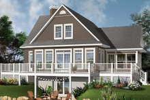 House Plan Design - Contemporary Exterior - Rear Elevation Plan #23-2317