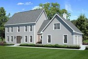 Colonial Style House Plan - 3 Beds 2.5 Baths 2138 Sq/Ft Plan #312-637 Exterior - Front Elevation