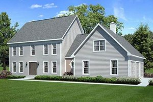 Colonial Exterior - Front Elevation Plan #312-637