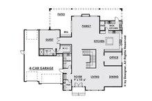 Contemporary Floor Plan - Main Floor Plan Plan #1066-28