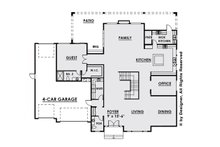 Contemporary Floor Plan - Main Floor Plan Plan #1066-28