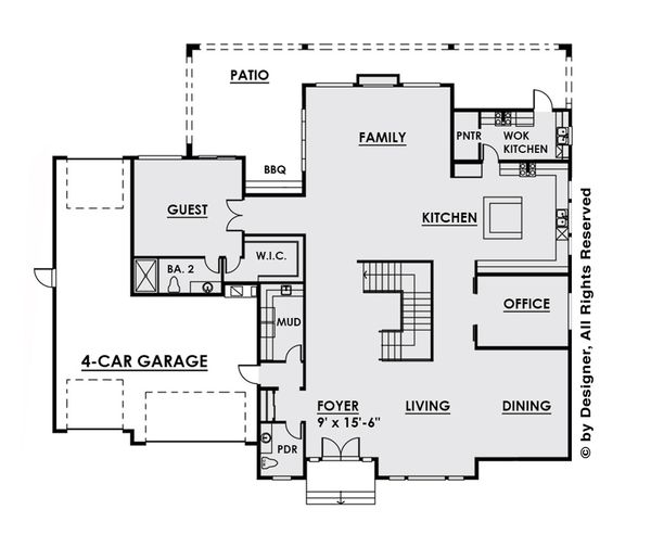 Dream House Plan - Contemporary Floor Plan - Main Floor Plan #1066-28