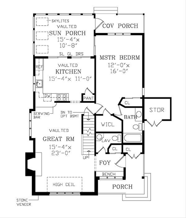Contemporary Floor Plan - Main Floor Plan Plan #456-8