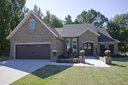 European Style House Plan - 3 Beds 2 Baths 1747 Sq/Ft Plan #17-123 Exterior - Front Elevation