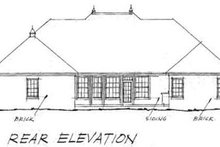 House Plan Design - Traditional Exterior - Rear Elevation Plan #20-364