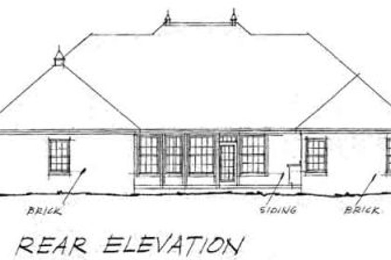 Traditional Exterior - Rear Elevation Plan #20-364 - Houseplans.com