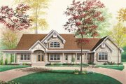 Traditional Style House Plan - 3 Beds 2.5 Baths 2802 Sq/Ft Plan #23-255 Exterior - Front Elevation