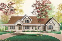 Home Plan - Traditional Exterior - Front Elevation Plan #23-255