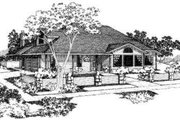 Traditional Style House Plan - 4 Beds 3 Baths 1814 Sq/Ft Plan #303-104 Exterior - Front Elevation