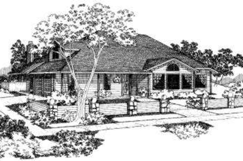 Traditional Style House Plan - 4 Beds 3 Baths 1814 Sq/Ft Plan #303-104