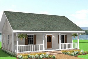 Country Exterior - Front Elevation Plan #44-203