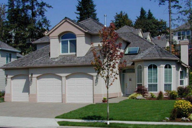 Dream House Plan - Mediterranean Exterior - Front Elevation Plan #48-336