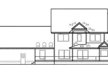 House Design - Traditional Exterior - Rear Elevation Plan #60-563