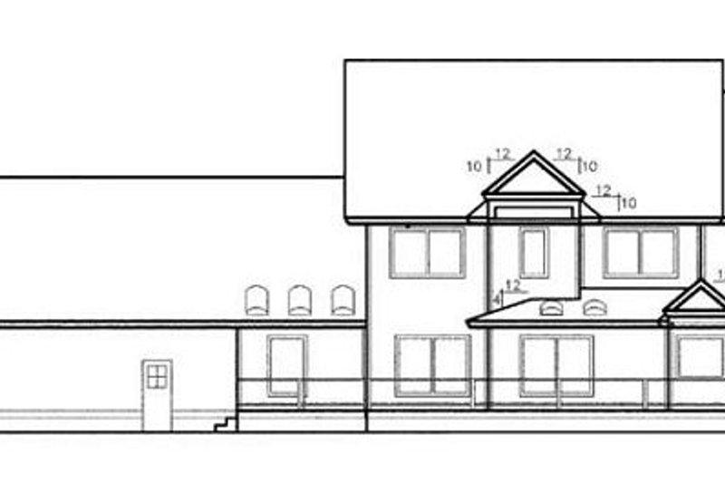 Traditional Exterior - Rear Elevation Plan #60-563 - Houseplans.com