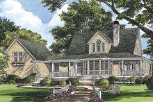 Colonial Exterior - Rear Elevation Plan #929-50