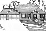 Traditional Style House Plan - 4 Beds 3.5 Baths 3111 Sq/Ft Plan #31-127 Exterior - Front Elevation
