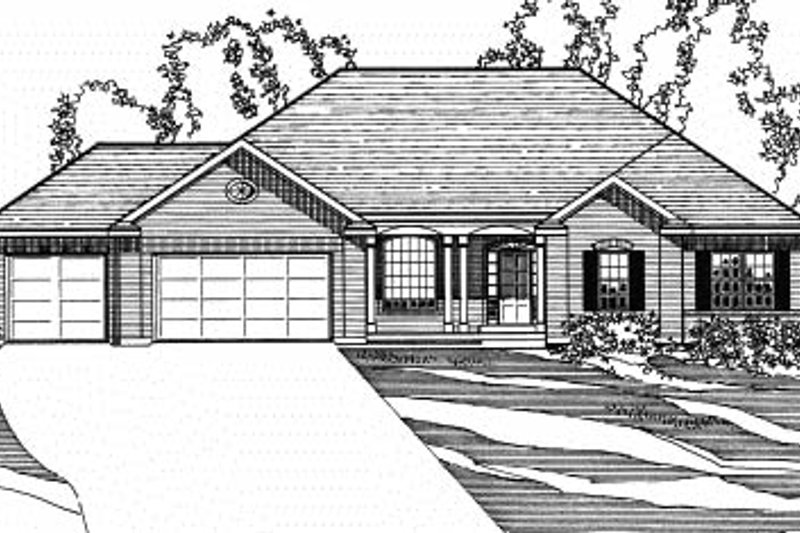 Traditional Exterior - Front Elevation Plan #31-127 - Houseplans.com