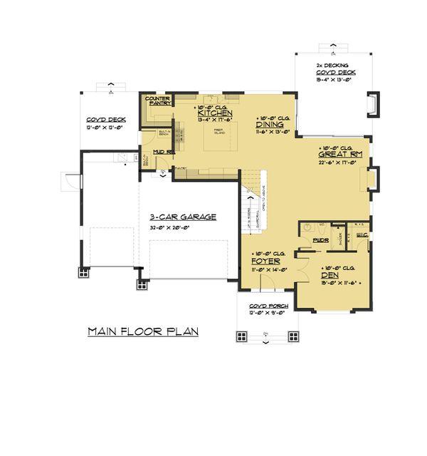 Contemporary Floor Plan - Main Floor Plan #1066-80