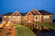 Country Style House Plan - 4 Beds 3.5 Baths 4790 Sq/Ft Plan #51-458 Exterior - Front Elevation