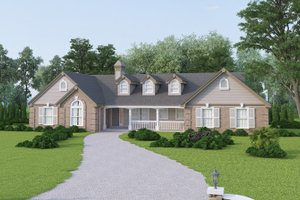 Traditional Exterior - Front Elevation Plan #57-190
