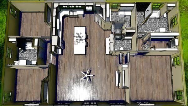 Bungalow Floor Plan - Other Floor Plan Plan #44-238