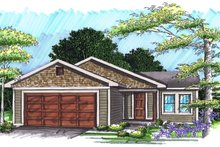 Home Plan - Exterior - Front Elevation Plan #70-1015