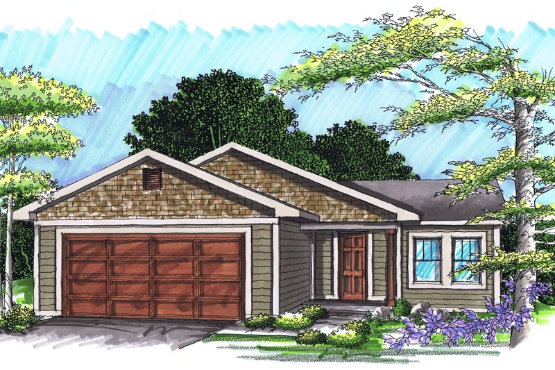 Exterior - Front Elevation Plan #70-1015