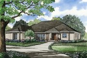 European Style House Plan - 4 Beds 3 Baths 2951 Sq/Ft Plan #17-1028 Exterior - Front Elevation
