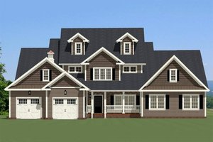 Farmhouse Exterior - Front Elevation Plan #898-34