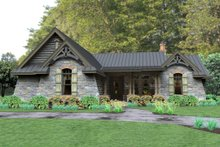 House Plan Design - 2,200 sft rustic ranch house by David Wiggins