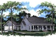 Country Style House Plan - 3 Beds 2 Baths 1475 Sq/Ft Plan #41-112 Exterior - Front Elevation